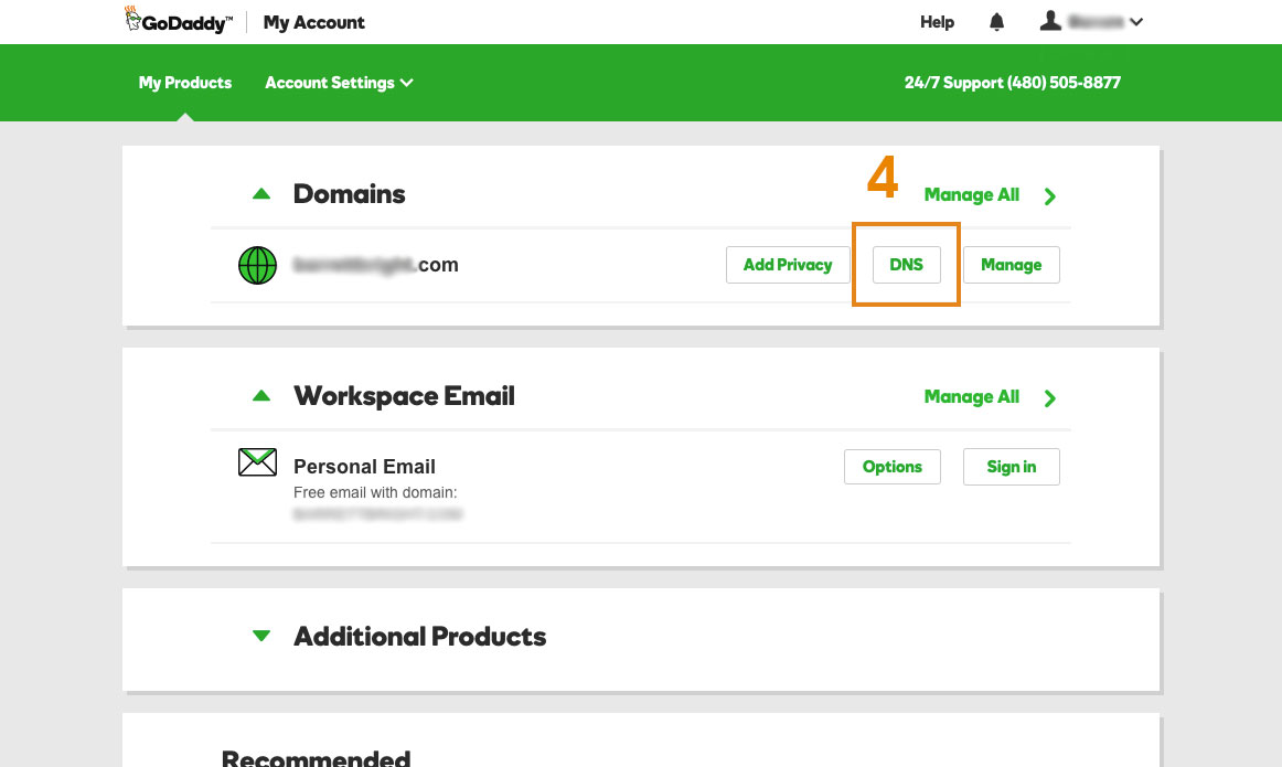 Change DNS records on GoDaddy + Redirect Subdomain to